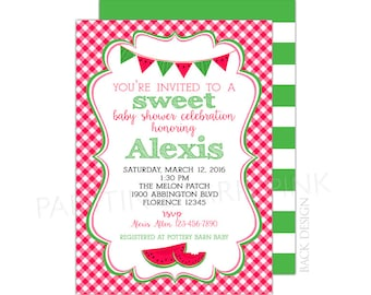 Watermelon Baby Shower or Birthday Party Invitation | Printable OR Professionally Printed | 5x7