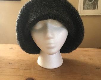 Grey Crocheted Hat