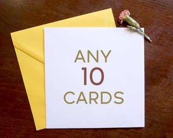 Mix and Match Any 10 Cards - Greeting Cards Set
