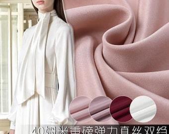 "4 Color 30m/m, Silk fabric Crepe fabric solid color fabric -(MKAFC)- 45""wide/114cm"