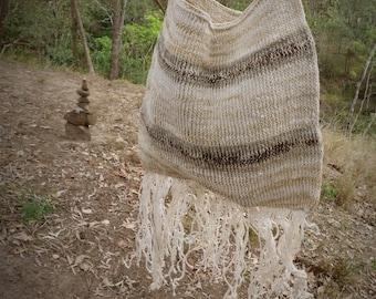 Hand woven natural earthy vintage bag