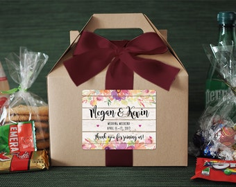 Set of 6- Wedding Favor / Wedding Welcome Box / Thank you Favor / Bridesmaid Gifts / Out of Town Guest Box / Rustic Wedding Favor