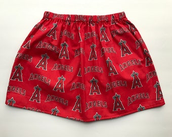 skirt- MLB Skirt- Baseball skirt - kids skirt- toddler skirt- little girl skirt- cotton skirt-Angels skirt
