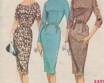 Bust 34-FACTORY FOLDED 1960 Misses' Dress McCall's 5553 Size 14