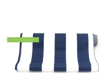 "Navy White Striped Table Runner 14"" x 108"" Cotton"