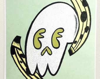 Banana Skull Print