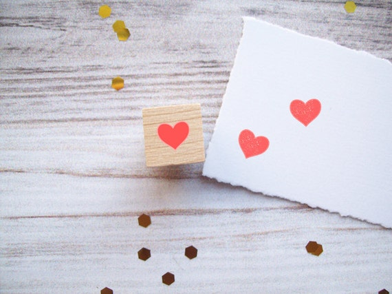 Tiny Heart Rubber Stamp