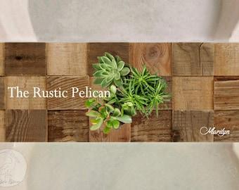 Rustic, Reclaimed Wood Bathtub Tray, Wood Bath Shelf, Bathtub Caddy, Spa, Tray, Bathroom, iPad Tray, Tablet Tray, Wine Caddy, Tub Caddy,