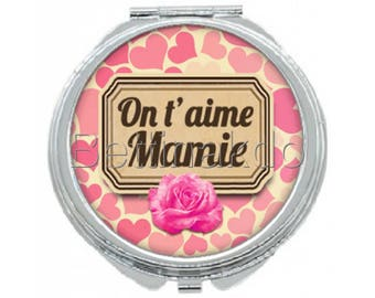 "Pocket mirror ""we love Grandma"""
