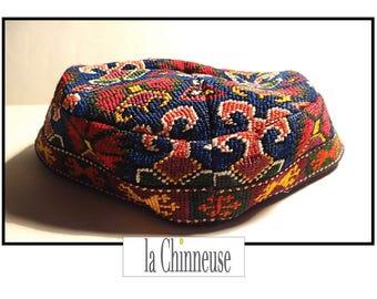 ANTIQUE OUZBEK HAT/ Chapeau Traditionnel Ouzbek / Ethnique chapeau Asie centrale / Collectible / True Vintage.