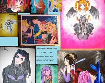 Manga character table at your choice on order