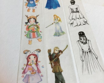 1 Roll of Limited Edition Washi Tape (Pick 1): Cute Girls, Knight and Princess, Or Girls' Back