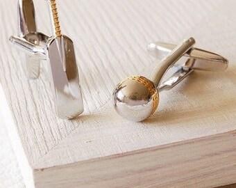 Cricket Cufflinks - Highest Quality - Novelty and Humorous Cufflinks - Wedding