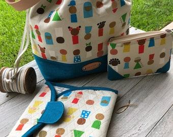 XLarge Drawstring Bag, Extra Large Drawstring Project Bag Set, Drawstring Project Bag, Drawstring Knitting Bag Set, Project Bag Set