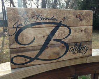 Custom Wood Sign With Painted Lettering