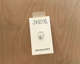 Tooth Shrinky-Dink Pin