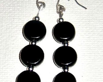 "Azabache and Sterling Silver 925 Beads ""So Pretty"" Women's Earrings"