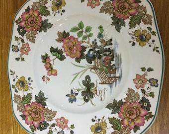wedgwood etruria and barlaston  salad plate, eastern flowers design ref 11
