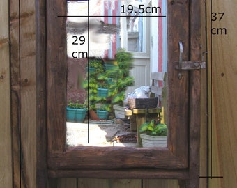 BATHROOM CABINET in recycled timber with mirror door