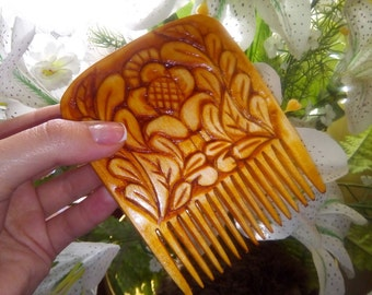 Wooden hair comb Wood comb Hair comb Gift ideas  Wife gift Sister gift Cute gifts  for Girlfriend   Birthday gift