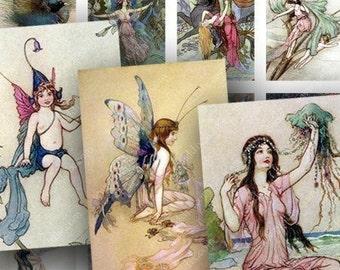 Blue Fairies 1x1.5 in Collage Sheet -- piddix 407