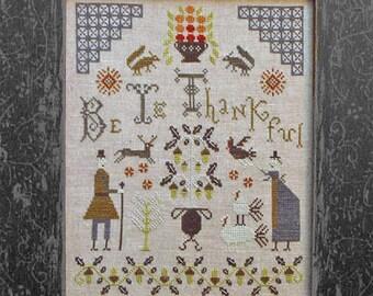 SALE!! Be Ye Thankful - Cross Stitch Pattern by Pineberry Lane