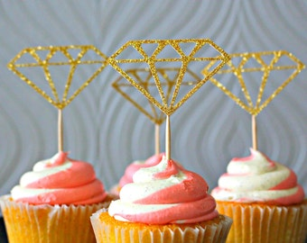 Glitter Ring Cupcake Toppers