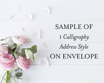 Calligraphy Sample Envelope-1 style