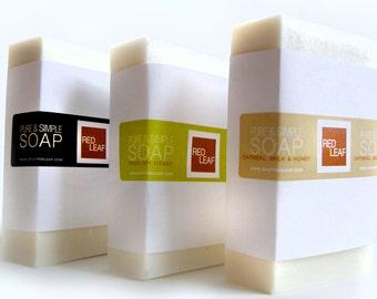 Huge Bar Of Soap, Vegan Soap Bar, Excellent Value Equals 2 Bars Of Soap, Red Leaf  Soap Seattle