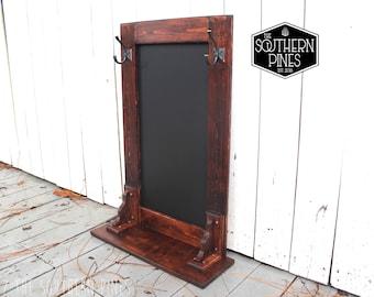 Farmhouse Magnetic Chalkboard Coat Rack | Entry Way Rack | Key Rack | Shelf | Modern Rustic | Wall Hanging | Rustic Sign | Shabby Chic |