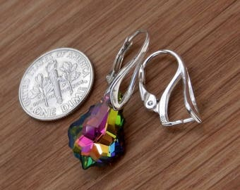 Hight Quality, Sterling Silver, Lever Back, Earwires, Findings, with, Pinch Bail, for, Swarovski Crystals, or, other, beads