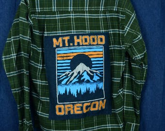 Upcycled Mt Hood Flannel