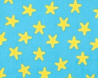 Robert Kaufman Sea and Sun/Ann Kelle/Starfish Pacific/Cotton/Fabric/Sewing/Quilting