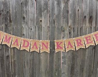 Ramadan Banner (shimmering hot pink)