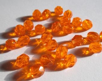faceted Czech 6 mm Sun 10 beads