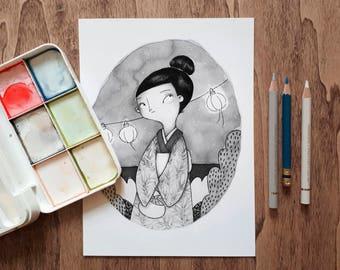 Little Japanese A5 Print