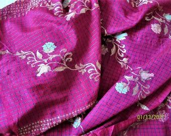 6 yards vintage Sari fabric
