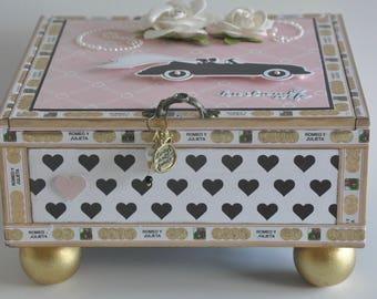 Altered Cigar Box Wedding Car Home Decor