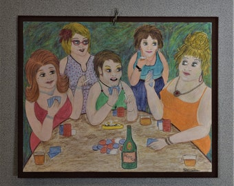 Original Drawing Poker Ladies