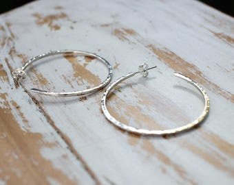 In Stock - Now and Then Hoop Earrings - Classic Hammered Hoops