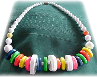 Colorful Chunky Beaded Necklace