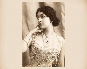 Actress Lina Cavalieri New 4x6 Vintage Postcard Image Photo Print LC07