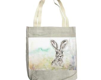 Tote bag, Canvas tote bag, Rabbit tote bag, Shopper bag, Shoulder bag, Craft bag, Knitting Bag, Buck tote bag, Hare tote bag