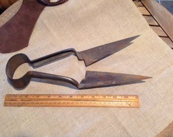 Antique Shears - Vintage Farm Tool made in Sheffield England