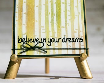 Believe in Your Dreams - Handmade watercolor card