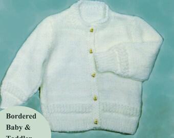 Toddler Knitting Pattern, Toddler Cardigan Knitting Pattern, Toddler Sweater Knitting Pattern, INSTANT Download Pattern PDF (2314)
