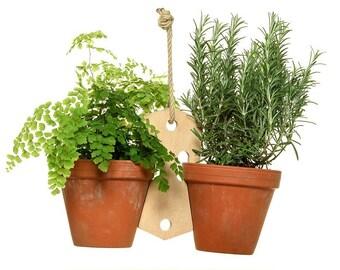 Handmade 2 Pot Plant Holder