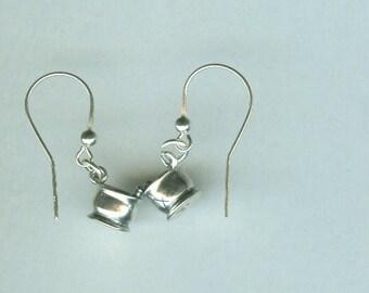 Sterling Silver PHARMACIST, MORTAR & PESTLE Earrings - French Earwires - Pharmacy, Medical