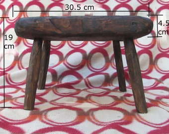 Rustic/driftwood style foot stool in recycled wood