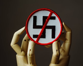 Anti-Nazi Patch | Sew on | Embroidery | Patches for Jackets | Anarchist Patch | Iron Front Patch | Tumblr Patch | Custom Patch | Vintage